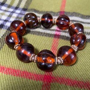 Heavy vintage glass bead bracelet